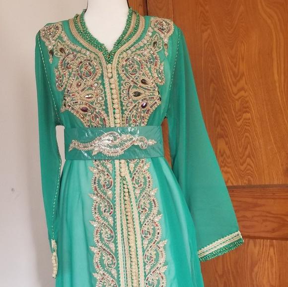 d1341df7c1a Moroccan Traditional Caftan Taksheeta Dress